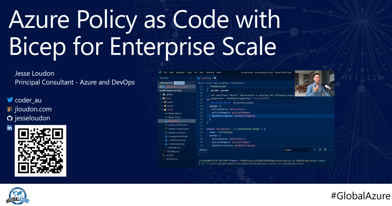Global Azure: Policy as Code with Bicep for Enterprise Scale