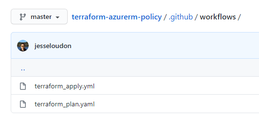 github action yaml workflows
